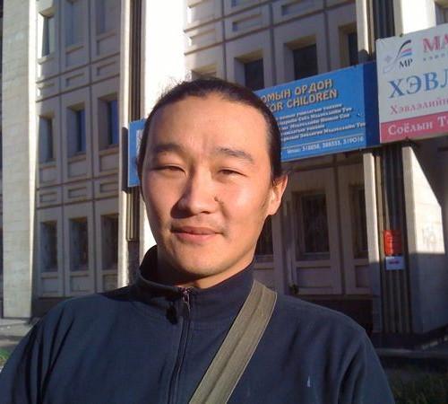 Mongolian man doing his masters in Environmental studies