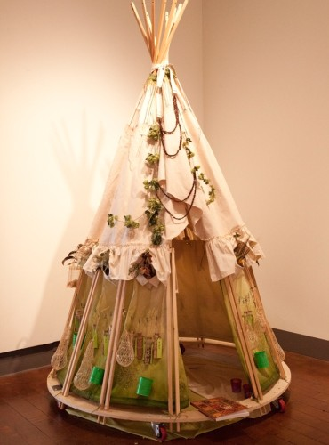 SeedBomb Teepee in the gallery