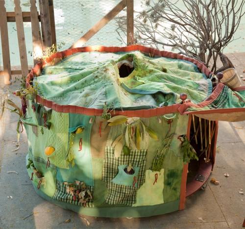 Nomadik Harvest Dress as yurt shelter