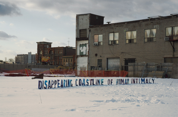 Disappearing Coastline of Human Intimacy - Created this piece in response to the outcry regarding an old warehouse full of artists studios being demolished for condos at 48 Abell Street