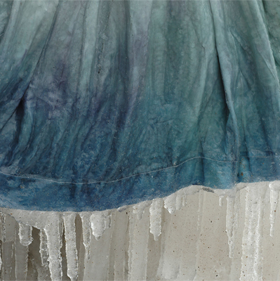 Icicle Detail - The icicles hanging from the hem are a reminder of the thin separation between us and the landscape.
