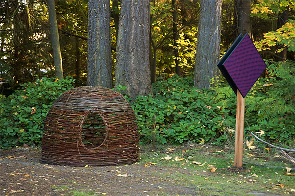 Shelter in Port Angles  - The sculpture was later donated to the Port Angeles Fine Art Center's Sculpture Park.