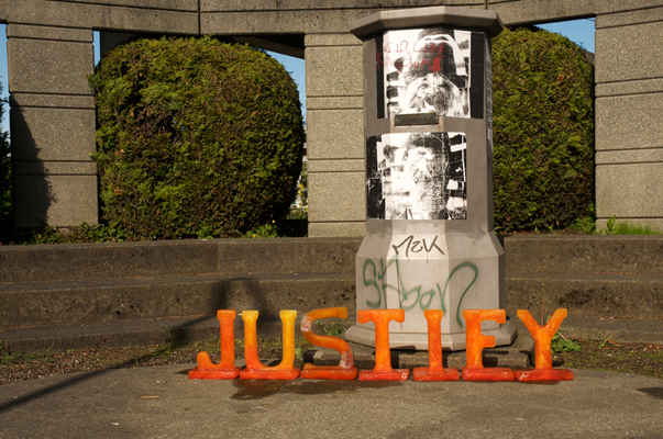 Justify -  How does a city justify a concrete park on busy thoroughfare? It used to house a statue of Christopher Columbus, which was stolen and mysteriously re-appeared in a better loved location.