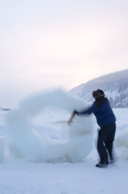 Gee, 2 - Within seconds a loud rumble is heard as the ice collapses.