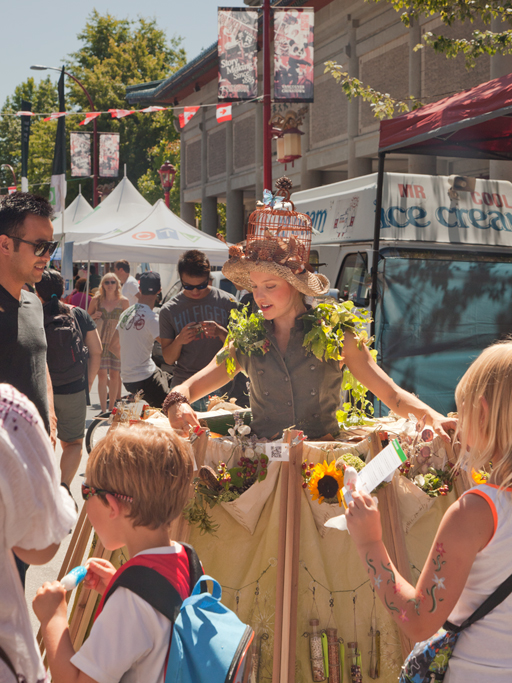 The Traveling SeedBomb Dress at the Chinatown Festival in Vancouver.