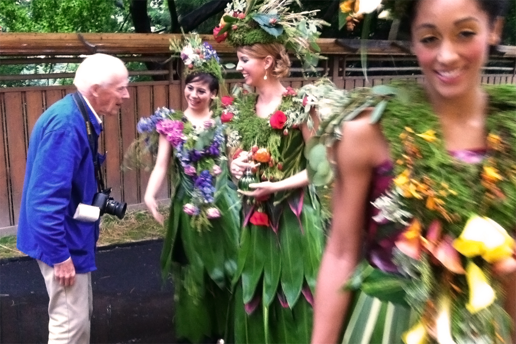 Legendary photographer Bill Cunningham was enchanted by the dresses at the Brooklyn Botanical Garden, which he reported on in the New York Times.