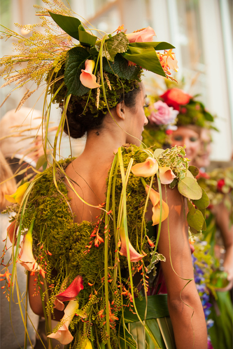 The Calla dress was one of three originally created for an event at the Brooklyn Botanical Garden. Photo: Silk Studio