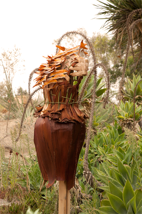 The dress was installed in the Fullerton Arboretum desert garden for 2 months.