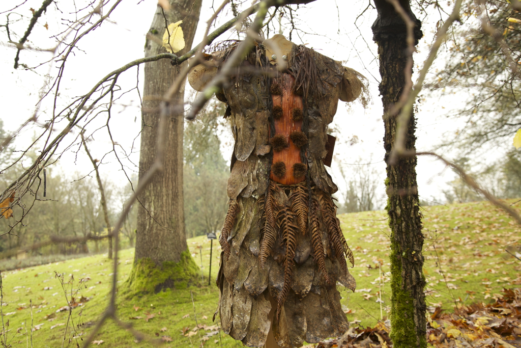 Since Dawn's dress was made with hardy materials it was transferred to her garden to continue its life for a year.