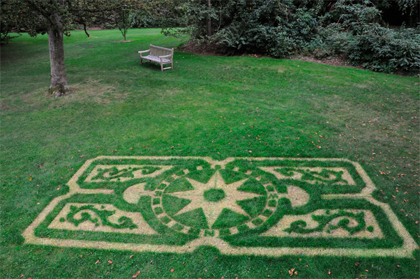 Parterre Carpet. Suppressed grass pattern on the Great Lawn inspired by the Orangerie Garden at Versailles.