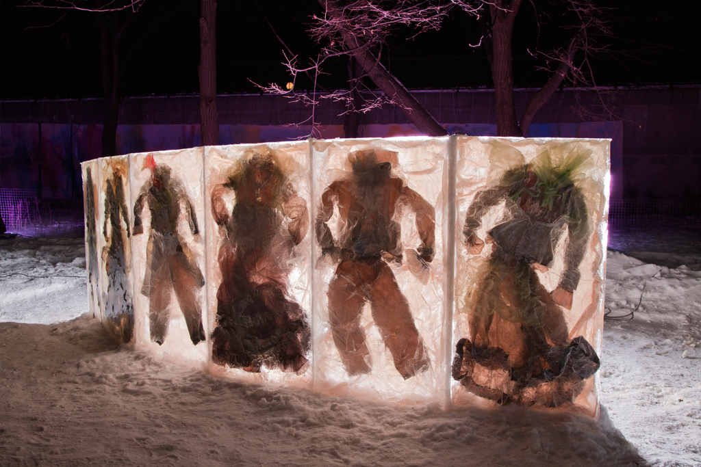 The piece was installed in Confederation Park, along with 10 other artists who were part of the BlizzArt exhibition.