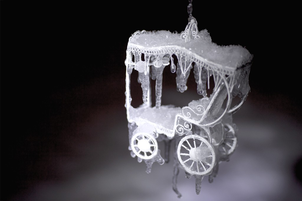 Ornate carriage fit for a queen. Frozen in time.