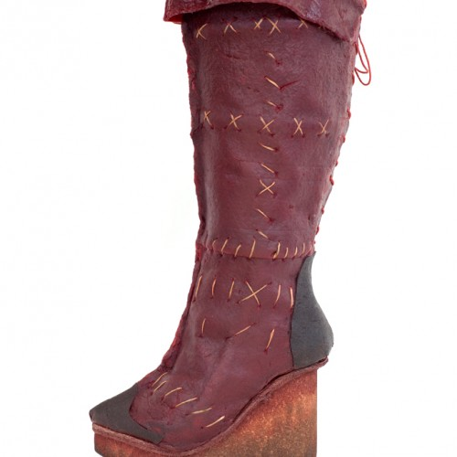 Pomegranate fruit leather boots